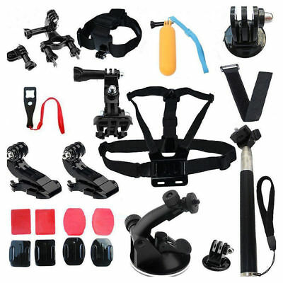 22 in 1 Accessories kit Head Strap Mount Floating Monopod Combo for GoPro 2 3+ 4
