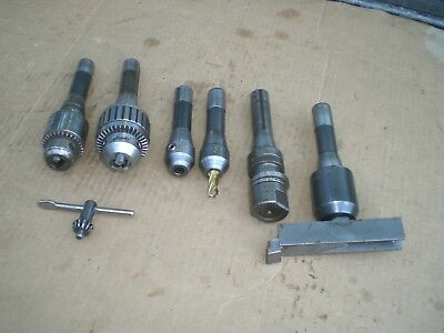 lot of R8 tooling 2 Jacobs chucks  end mill holders  slitting arbor