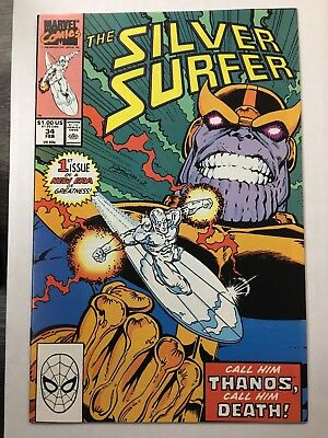 The Silver Surfer #34 - Return Of Thanos - Marvel (1990) - 9.6-9.8? Cgc It