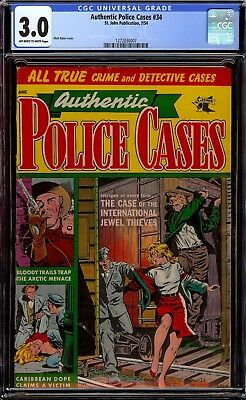 Authentic Police Cases #34...CGC 3.0 GVG...Matt Baker Cover...Tough to find