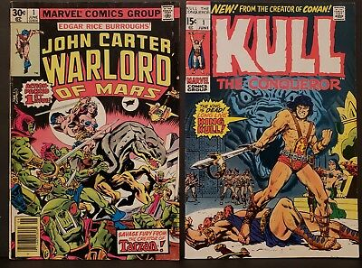 KULL the Conqueror + John Carter Warlord Of Mars #1 Marvel Bronze Age Sci-Fi
