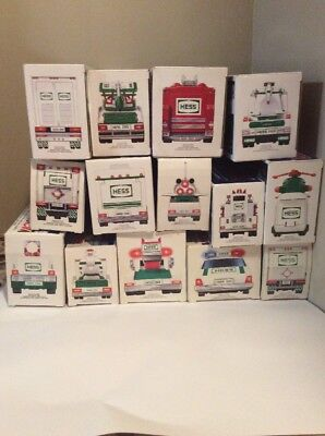 Hess Truck Lot Of (14) Dates 1992 Until 2003 & 2005 2006 Working In Original Box
