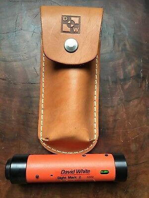 David White SIGHT MARK 2 - 5502 Hand Level Construction Tool w/ Leather case