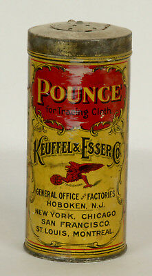Vintage Pounce for Tracing Cloth Tin by Keuffel & Esser Co.
