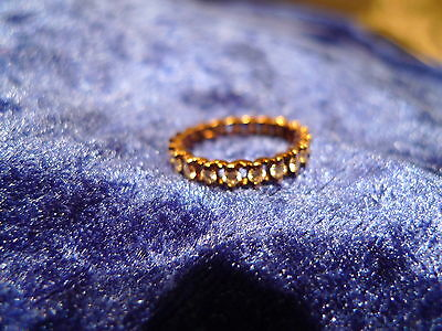 Beautiful, Old Ring __925 Silver __ Gold Plated __ all around with Stones!