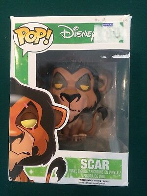 Funko Pop! Disney The Lion King Scar RARE ERROR Vaulted #89 Villain HTF fastship