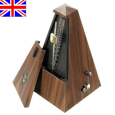 Antique Vintage Wood Mechanical Metronome Tempo Music Timer Classical Wooden UK