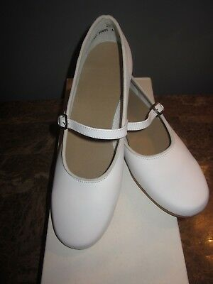 Mid-South Footwear Scoop Clogging Shoe White #10 Ladies Size 6M New with Box