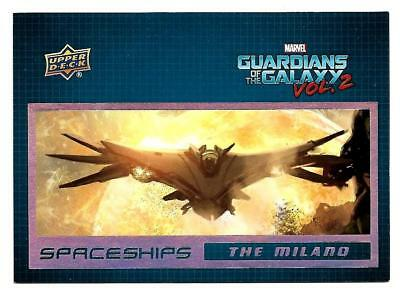 2017 Upper Deck Marvel Guardians of the Galaxy Volume 2 SPACESHIPS SS1 Milano