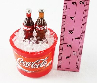 Coca-Cola COKE IN ICE BUCKET FRIDGE MAGNET MINIATURE COLLECTIBLE DOLLHOUSE GIFT