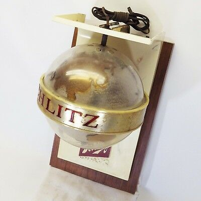 Vintage 1960's Schlitz Beer Sign Rotating Spinning Globe Earth Lighted Electric