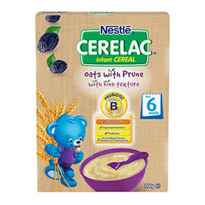 NEW Nestle Cerelac Infant Cereal Oat with Prune From 6 months 200g