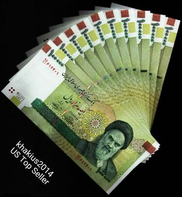 RIAL BANKNOTE 10 x 100000 (100,000) 1 Million Rials , UNC