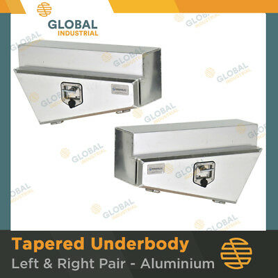 1 x Pair of Aluminium Tapered Underbody Under Tray Ute 4x4 Tool Boxes TBA0110