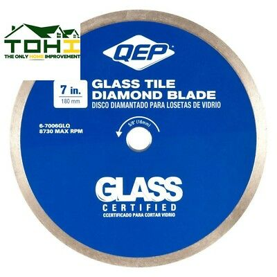 GLASS TILE DIAMOND BLADE 7 in Wet Tile Saws 7 Mm Diamond Coated Cutting Edge NEW