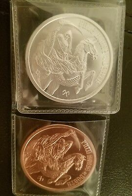 Pale Horse of Death Silver AND Copper Rounds 4 Horseman of Apocalypse - Last 4th