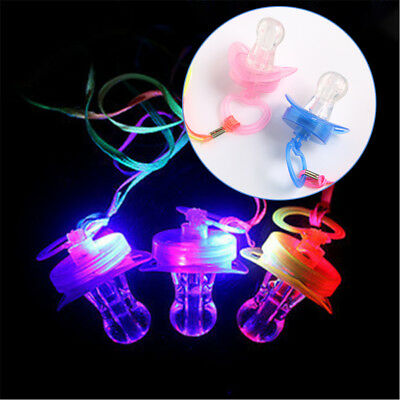 LED Nipple Glow Sticks Light Up Party Favor Pacifier Whistle Children Gift F3B6