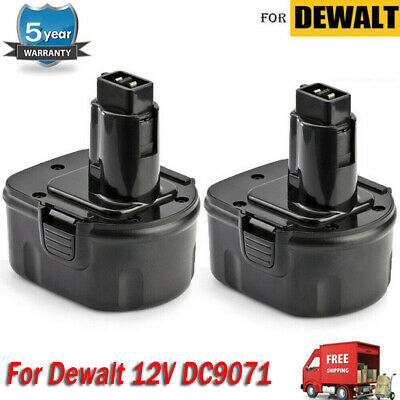 2 Pack New 12V 12 Volt Xrp Battery For Dewalt Dc9071 Dw9071 Dw9072 De9072 De9074