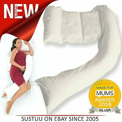 Dreamgenii Pregnancy Support & Feeding Pillow│Comfortable & Spacesaver│Washable