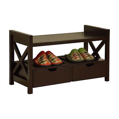 Pilaster Designs -   Wood Shoe Storage Bench With Drawers