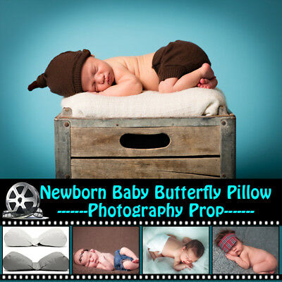 AU Newborn Baby Photography Posing Butterfly Pillow Poser Backdrop Photo Props