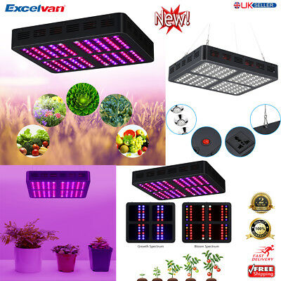 1200W LED Hydroponic Plant Grow Light Panel Flower Growing Lamp Full Spectrum