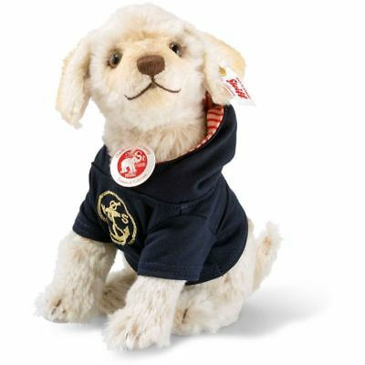 Steiff 006548 Nautical Nicky Hund, Mohair, 20 cm, creme