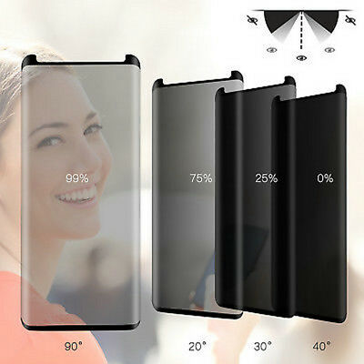 Privacy Anti-Spy Screen Protector for Samsung Galaxy S9 S8+ Plus Tempered Glass