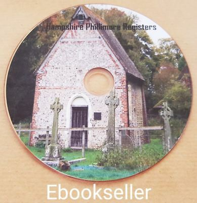 Hampshire, Phillimore, Church Parish, Records, genealogy, in pdf ebooks, on disc