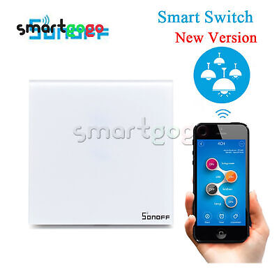 SONOFF Touch Wifi  Luxury Glass Panel Wireless Timing Switch Smart Home