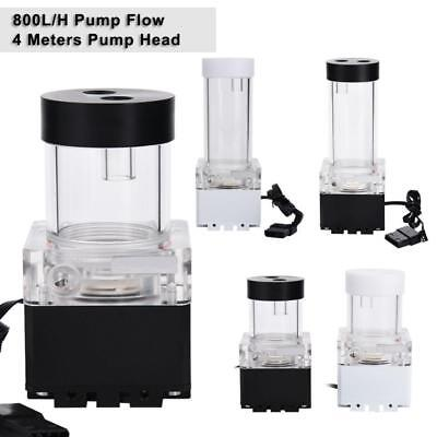 G1/4 Thread Cylinder Reservoir Tank + 800L/H Pump Combo For PC Water Cooling