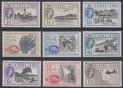 Sierra Leone 1956 unmounted to lightly hinged mint MNH - VLHM short set to 1/3Sh