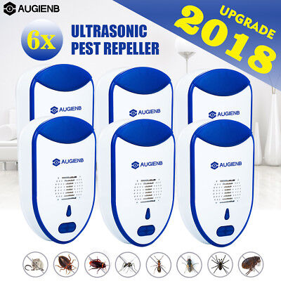AUGIENB Electronic Ultrasonic Pest Repeller Reject Mouse Spider Mosquitoes Plug