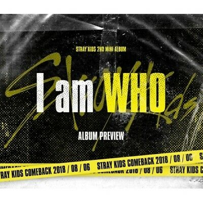 Stray Kids[I am WHO]2nd Mini Album 2 Ver Set CD+Poster/On+PhotoBook+3p Card+Gift