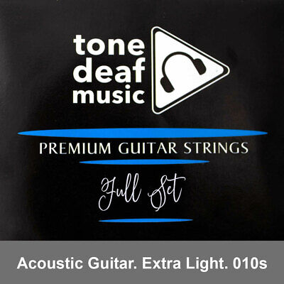 ACOUSTIC GUITAR STRINGS Extra Light Gauge 010 – 048 bronze wound 6 string steel