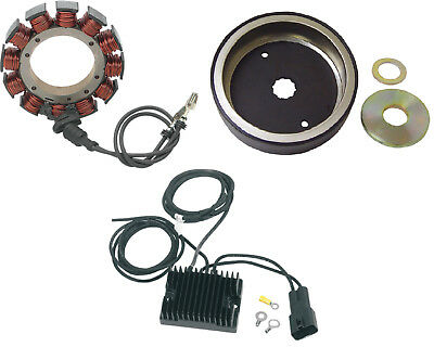Charging Kit Regulator Stator Rotor Harley Dyna Super Glide Low Rider Wide 99-03