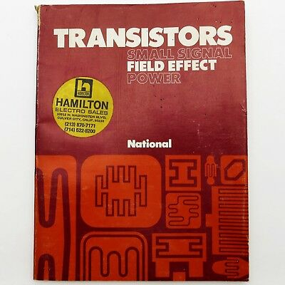 NATIONAL SEMICONDUCTOR Vintage 1974 TRANSISTORS DATA BOOK Small Signal FET Power