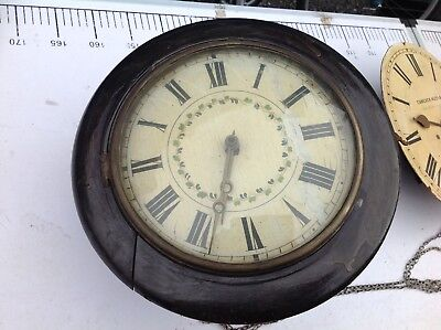 Antique Very Rare 1800's Wooden Striking Wall Clock.