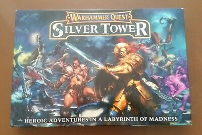 WARHAMMER QUEST SILVER TOWER BOARD GAME part painted