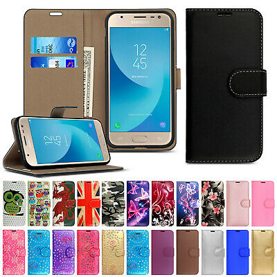 Case Cover For Samsung Galaxy J3 J5 2016 J6 2018 Flip Leather Wallet Card Holder