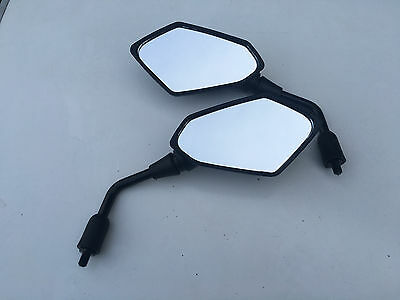 BRAND NEW SET OF WIDE MIRRORS FOR   LEXMOTO VALENCIA 125 10MM E MARKED
