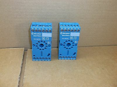 90.73 Finder NEW 11-Pin 10A 3PDT DIN Rail Mount Relay Socket 9073