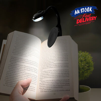 1/2 pcs Travel Flexible Neck LED Portable Clamp Clip-On Reading Book Light Lamp