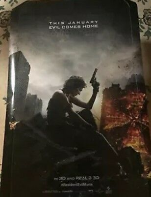 RESIDENT EVIL THE FINAL CHAPTER Teaser Authentic 27x41 D/S Rolled Movie Poster.