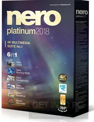 Nero Platinum 2018 Full Version 100% Genuine License ✔️INSTANT Lifetime + Packs