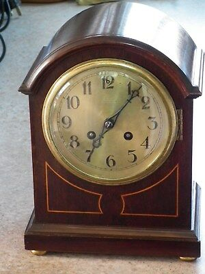 2 train Westminster chiming mantel clock with bracket - FREE P & P!!