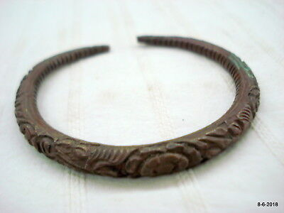 vintage antique old handmade bangle bracelet copper bangle kada