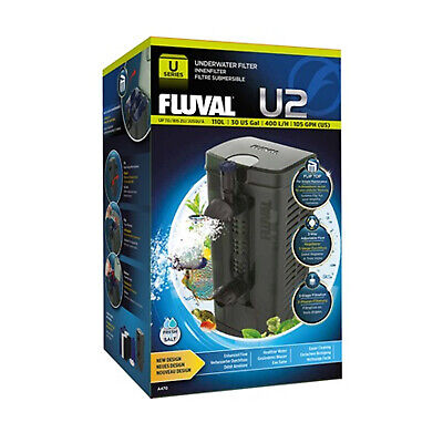 Fluval U2 Underwater Internal Filter 110L NEW! with FREE Clean & Clear Cartridge