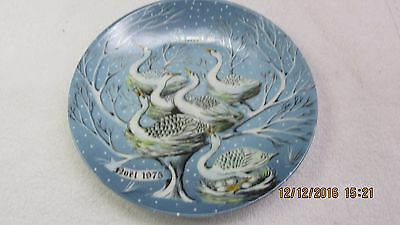 """Haviland Limoges """"noel Plate, #6 In 12 Days Of Christmas Series, Awesome!"""