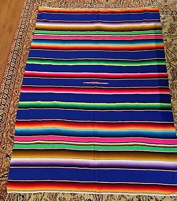 """Mexican Sarape Serape Saltillo Blanket Huge,  X-Large 82"""" X 60"""";  Made In Mexico"""